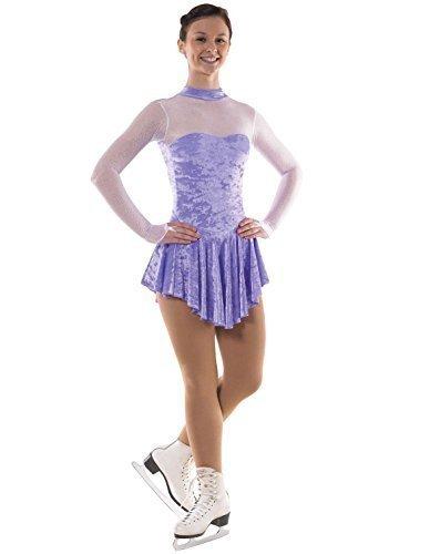 Niñas patinaje sobre hielo vestido con Glittermist - Lila o Cerise, de terciopelo: Amazon.es: Deportes y aire libre