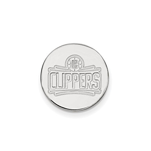 NBA Los Angeles Clippers Lapel Pin in 14K White Gold by LogoArt