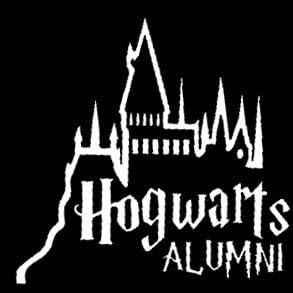 Hogwarts Alumni Decal 7in x 2in