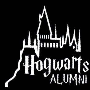 Legacy Innovations Hogwarts Alumni White Decal Vinyl Sticker|Cars Trucks Vans Walls Laptop| White |5.5 x 5.5 in|LLI603 ()