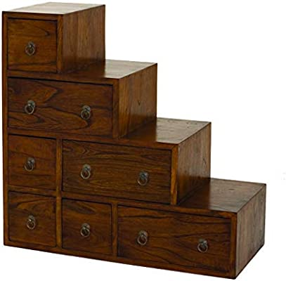 MACABANE Nomades Design 500831 – Mueble Escalera Madera 34 x 76 x 76 cm: Amazon.es: Hogar