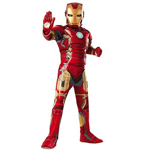Awesome Costumes Kids (Child Avengers 2 Iron Man Muscle Chest Costume with Gloves)