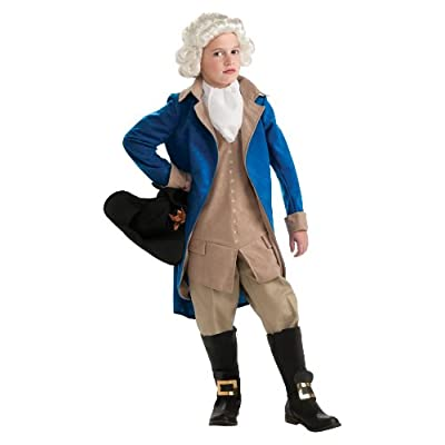 Rubie's Deluxe George Washington Children's Costume, Medium: Toys & Games