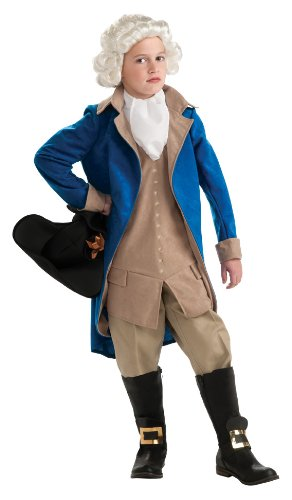 Historical Wig Costumes (Rubie's Deluxe George Washington Costume - Medium)