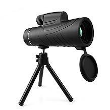 Monocular, ARCHEER 10X42 Handheld Monocular Telescope with Tripod, Mobile Phone Holder, Prism Telescope HD Spotting Scopes for Wildlife & Bird Watching, Climbing, Hunting