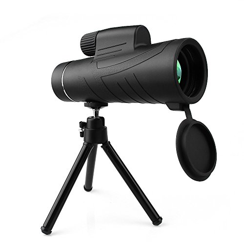 ARCHEER 10X42 Handheld Monocular Telescope with Tripod Low Night Vision Prism Telescope HD Spotting Scopes for Wildlife & Bird Watching, Climbing, Hunting