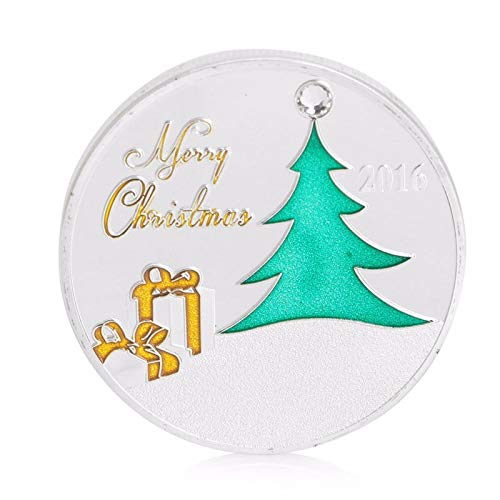 (Baellerry Leather - Commemorative Coin Silver Plated Seasons Greetings Merry Christmas Collectible Collection - Greetings Coins Silver Christmas Stamps)