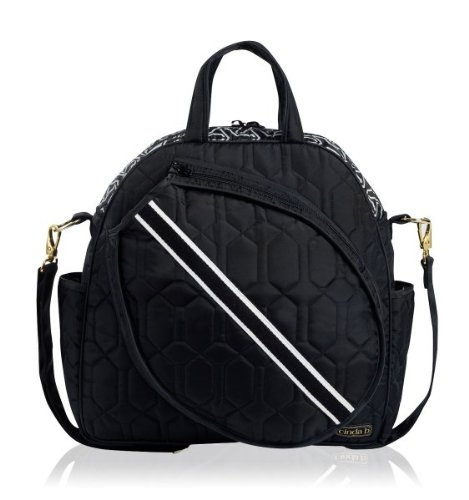 cinda b Tennis Tote, Jet Set Black , One Size by Cinda b.
