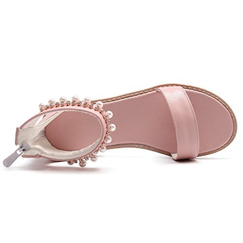 Mode JOJONUNU Femmes Sandales Pink Plates wCqqXxBp