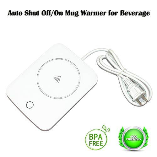 Mug Warmer For Desk Auto Shut Off Beverage Warmer-(Up to 131F℉/55℃)-Heater Surface for Home Office Coffee Shop Use (Tea,Water,Cocoa,Soup or Milk), coffee mug warmer beverage warmer by OneBuyOne (Image #7)