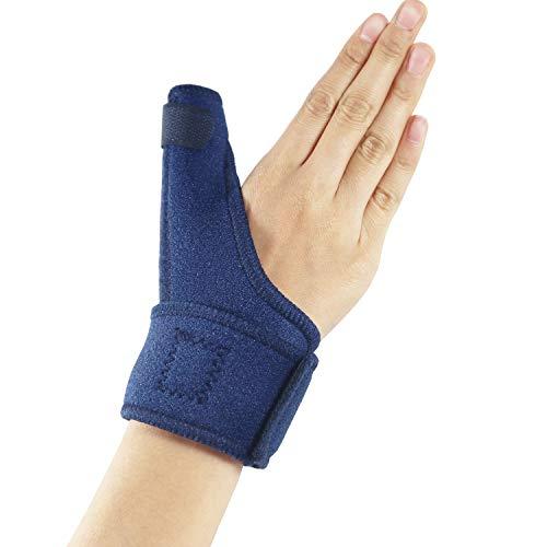 Hossom Férula del Pulgar, Ajustable Pulgar Férula para Dolor, Sprained, Artritis, Tendonitis- Mejor Disparador Inmovilizador de Pulgar para el Pulgar Restricción, Apoyo para el Pulgar