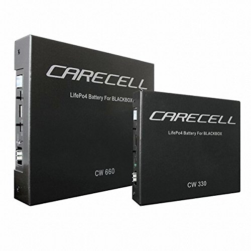 Carecell Backup Power Battery CW660 / black box Battery / 40min fast charger / LiFePo4 type Battery by Carecell