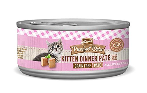 Merrick Purrfect Bistro Kitten Pate Cat Cans, 3 oz can (24 cans in case) by Merrick