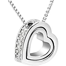 LuxuryLady The New Sexy Pendant Heart Simple Fashion Austrial Crystal Female Gift Necklace