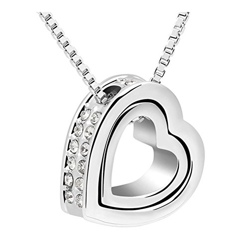 exy Pendant Heart Simple Fashion Austrial Crystal Female Gift Necklace ()