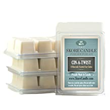 Cin-A-Twist Cinnamon 3-Pack Scented Soy Melts from Skore Candle. 18 Cubes made with pure, natural soy wax. Wax warmer required. Infuse fragrance in your home now!