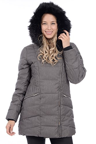 7a17cffa834 RedX Canada Women s Mid Length Polyfill Winter Coat with Faux Fur ...