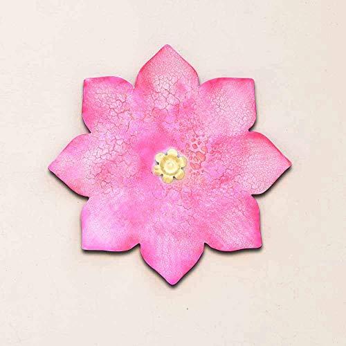- Fanusta Fuschia Orchid Iron Floral Wall Art 18