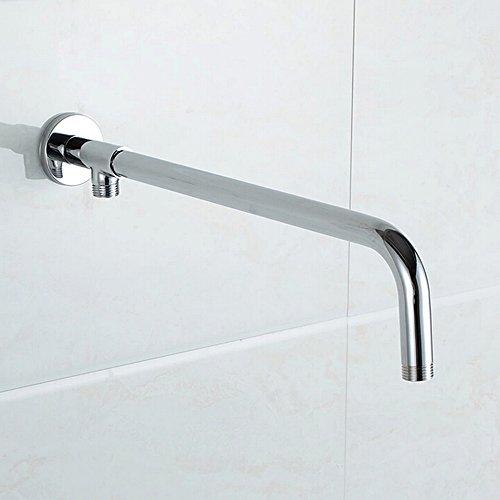 on sale KES Bathroom Shower Arm with Rainfall Showerhead and Hose, 18.7-Inch Extra Length Wall Mount, Polished Chrome, PSA7-C1