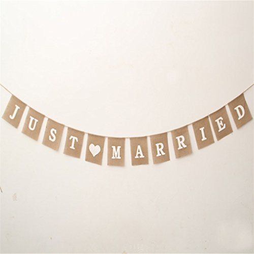 TraveT Jute Rope Flax Banner Wedding Photo Props