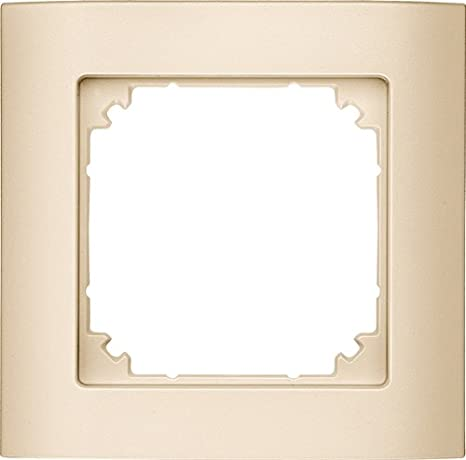 Merten 485170 M-ARC - Marco embellecedor para interruptores, color crema: Amazon.es: Bricolaje y herramientas