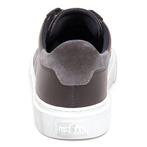 Hogan E5018 Sneaker Uomo Grey H340 Scarpe Effetto sporcato H Stitching Shoe Man Grigio