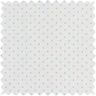 product image for SheetWorld 100% Cotton Jersey Fabric by The Yard, Blue Pindot, 36 x 60