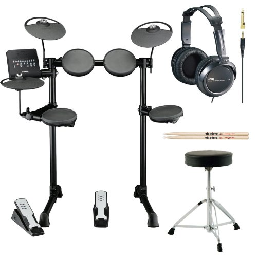 Yamaha-DTX400K-Customizable-Electronic-Drum-Set-with-Drum-Throne-Vic-Firth-5A-Drumsticks-and-Stereo-Headphones