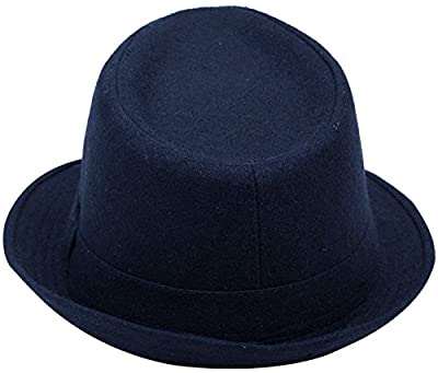 YoungLove Men's Classic Manhattan Structured Gangster Trilby Fedora Hat