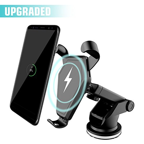 Wireless Car Charger, Qi Fast Charger Car Mount Air Vent Gravity Phone Holder for Samsung Galaxy S8/S8+/S7 Edge/S6 Edge+, Standard Charger for iPhone 8/8+/iPhone X and all Qi-Enabled Devices by Beanco Tech