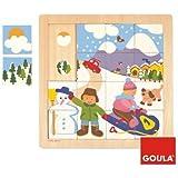 Goula 53088 - Jouet en Bois - Eveil - Puzzle - Hiver