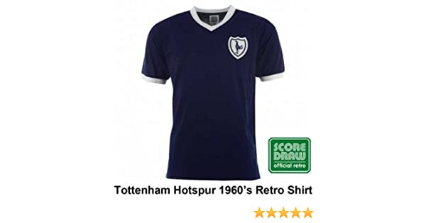 c68382dfe Amazon.com   Tottenham Hotspur Spurs 1960 s Retro Soccer Shirt by Scoredraw  (100% Cotton)   Clothing