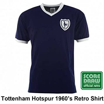 buy popular 59666 78c15 Tottenham Hotspur Spurs 1960's Retro Soccer Shirt by Scoredraw (100% Cotton)