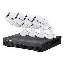 Phoneix ESCAM PNK405 NVR Kits HD 1080P 4 Channel Security System Waterproof IR Camera
