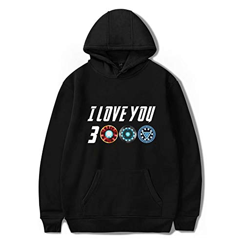 JinYiny I Love You 3000 Sudadera Superhero Casual Moda Sudadera Pelicula Entusiasta Sueter con Capucha con Bolsillo Unisex