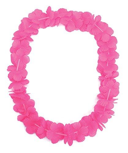 Bristol Novelty BA008 Hawaiian Leis, Womens, Pink, One Size -