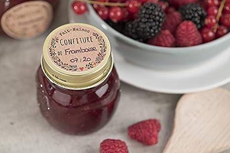 Confezione di etichette per marmellate Albicocca 64 /étiquettes arancione AVERY