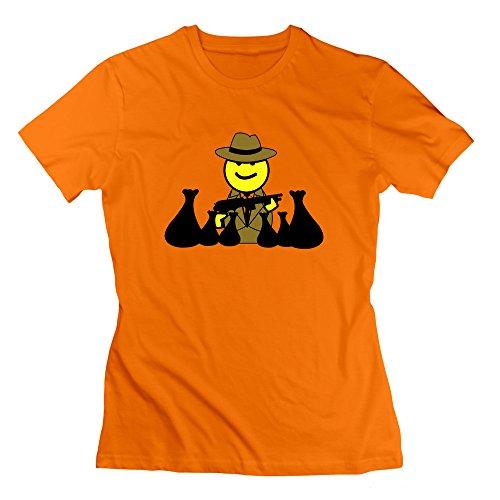 GGifKCU Mafia Boss With Cash Tees For Women XXL Orange by GGifKCU
