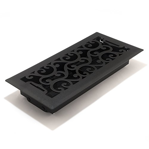 arleston Floor Register, 4-Inch x 10-Inch(Duct Opening Measurements), Matte Black ()