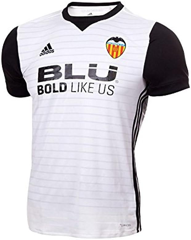 adidas Vcf H JSY Y Camiseta 1ª Equipación Valencia CF 2017-2018, niños, Blanco/Negro, 152: Amazon.es: Ropa y accesorios