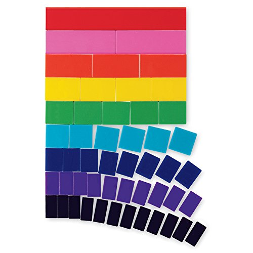 hand2mind Rainbow Fraction Tiles, Blank, Plastic (Set of ()
