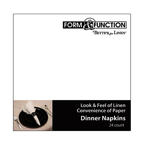 Creative Converting Form and Function Better than Linen 24 Count Dinner Napkins, White