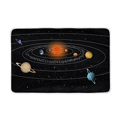 ALAZA Solar System Planets Stars Universe Blanket Luxury Throw Personalized Stylish Fuzzy Soft Warm Lightweight Blanket for Bed Counch All Season Unisex Adult Men Women Boys Girls 60x90 inches by ALAZA