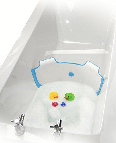 ** NEW ** BabyDam Bathwater Barrier | Baby Bath Tub | Converts A Standard Bath To A Baby Bath (White|Blue) by BabyDam
