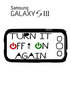 Turn it Off and On Again Mobile Cell Phone Case Samsung Galaxy S3 Black