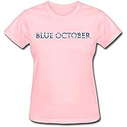 Blue October Tour 2016 Logo T Shirt For Women Pink XXL