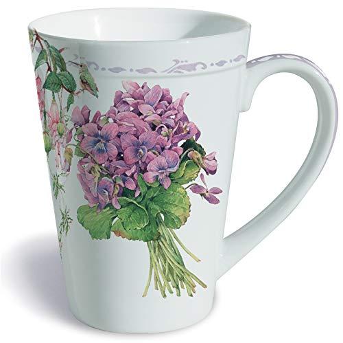 Violet Gift - Lissom Design Porcelain Mug, 12-Ounces, Sweet Violets