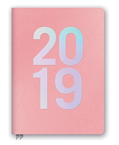 Orange Circle Studio 2019 - Agenda semanal (tamaño grande, piel sintética, 2018, diciembre de 2019), color rosa