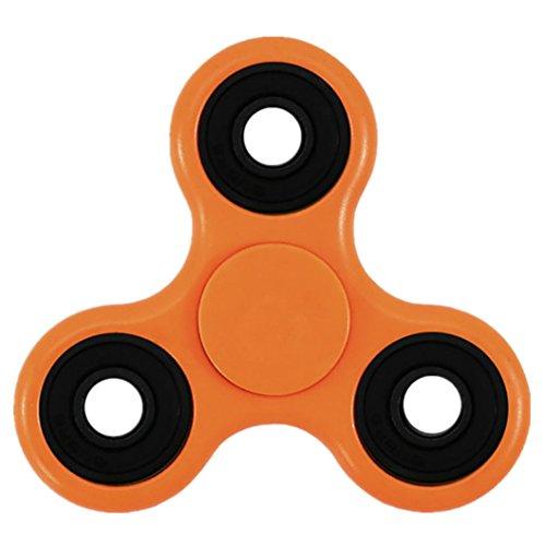 Price comparison product image Kwok Fidget Spinner Copper Ball Desk Focus Toy Hand Spinner Fidget EDC For Kids/Adults (Orange)