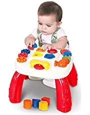 MESINHA DIDATICA INFANTIL COM ATIVIDADES - VERMELHO